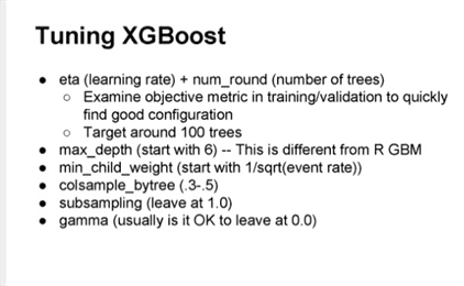 Owen Zhang Suggestions for Tuning XGBoost
