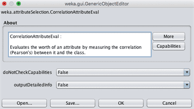 Weka Feature Selection Configuration