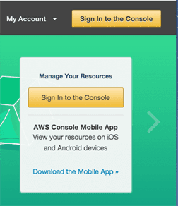 AWS Sign-in Button